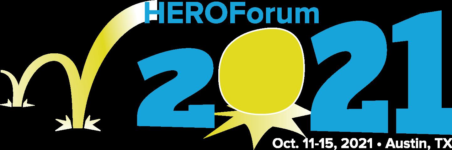 HEROForum 2021 logo with bouncing ball